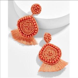 Orange Bauble Bar statement earrings